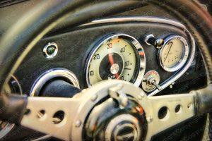 Poster Oldtimer Cockpit