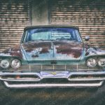 Poster US Car mit Patina