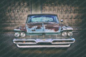 Poster US Car mit Patina