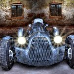 Poster Classic Oldtimer Rennwagen Alfa Romeo 8C 2900 A Botticella