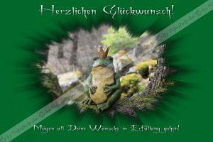 Glückwunschkarte Frosch