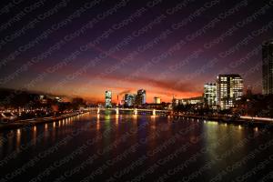 Poster Skyline Frankfurt