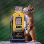 Eichhörnchen an der Tankstelle